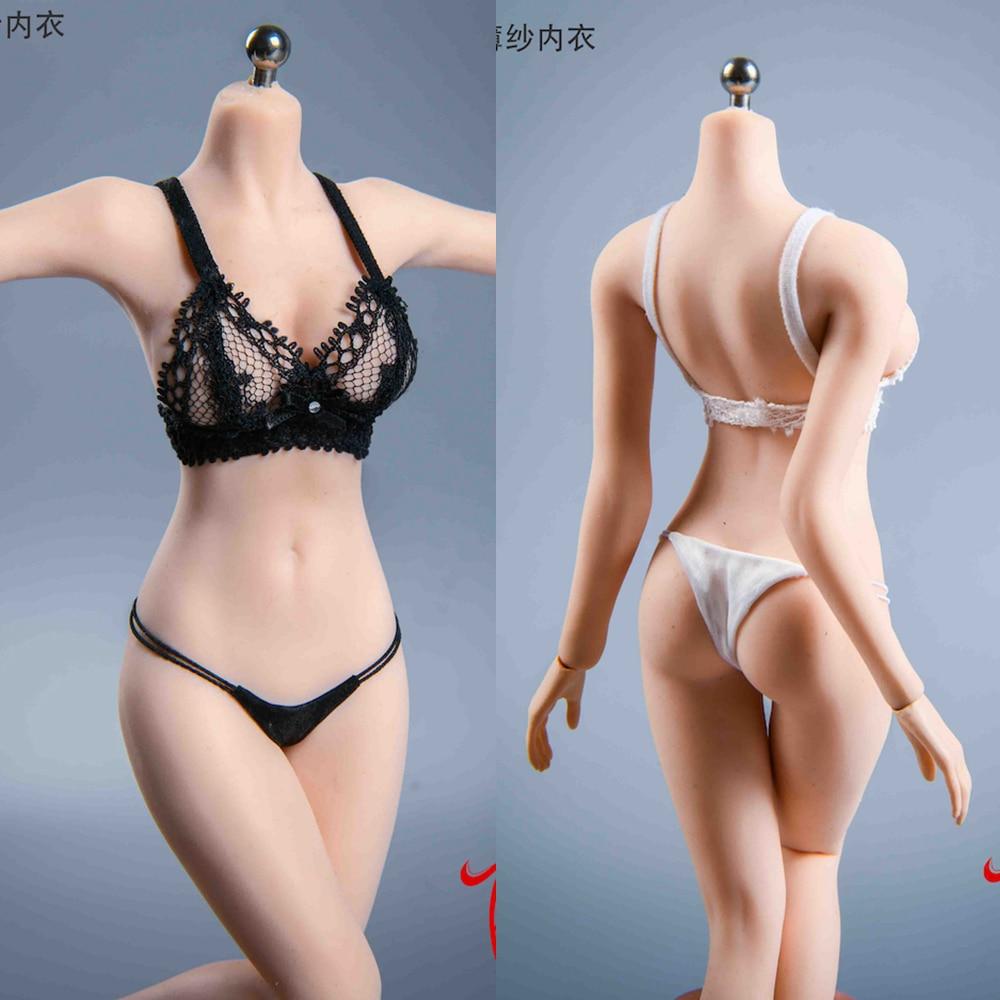 Black/White Color VSTOYS 21XG84 1/6 Scale Sexy Underwear Underpants See-through Mesh Bra Bikini Set Model