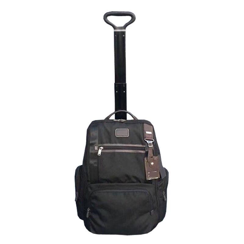2021 نايلون الأعمال الترفيه حقيبة ظهر مزودة بعربة تروللي متعددة الوظائف حقيبة سفر الصعود حقيبة ظهر مزودة بعربة تروللي المحفظة