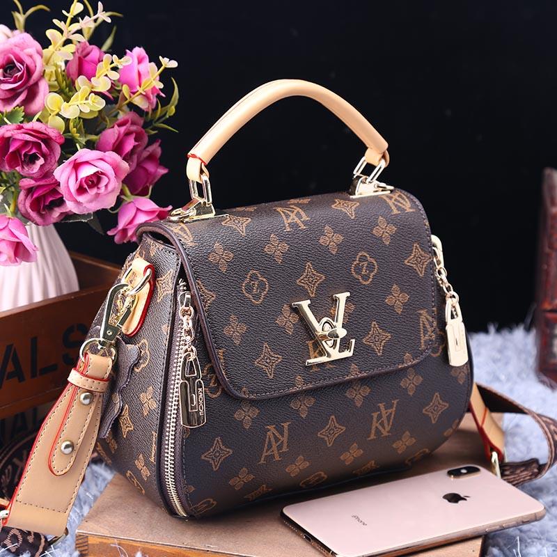 حقيبة يد من الجلد بطباعة مواكبة للموضة جديدة لعام 2021 ، حقيبة كتف واحدة ، حقائب كبيرة عالية الجودة للنساء ، محفظة وحقائب Gg