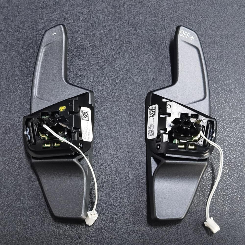 ل VW Golf 8 عجلة Tiptronic أسود عجلة القيادة التحول مجداف