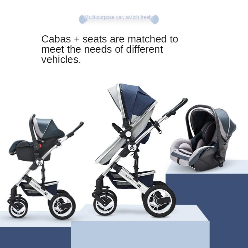 Baby Stroller 3 In 1 Pram with Car Seat Travel System Baby Stroller with Car Seat Newborn Baby Comfort Car Seat 0~36 months enlarge