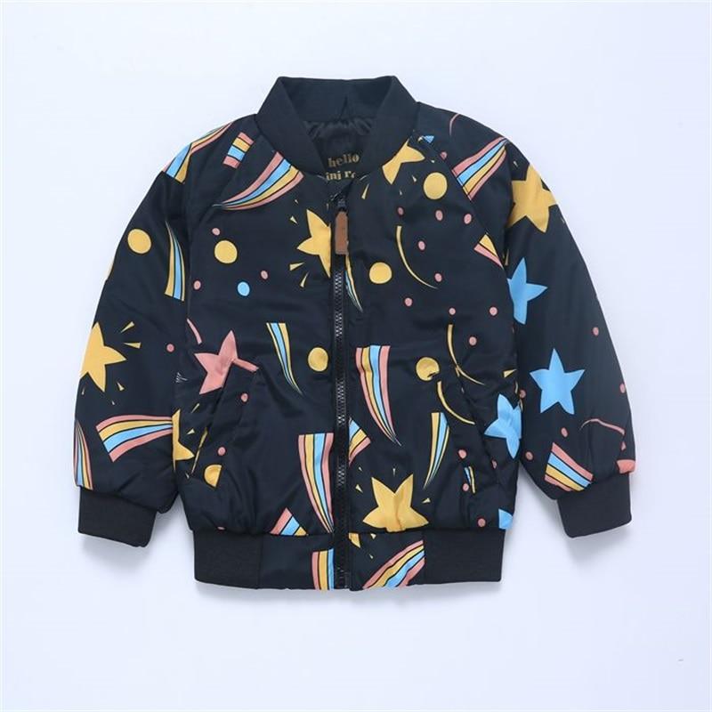 Fashion Children Jackets Baby Boys Girls Coats Cartoon Starry Sky Design Kids jacket clothes For Boy 2019 Spring Autumn clothing