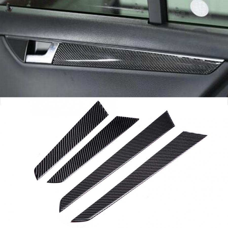 Панель для внутренней двери из углеродного волокна, подходит для Mercedes c-class W204 2007 2008 2009 2010 2011 2012 2013