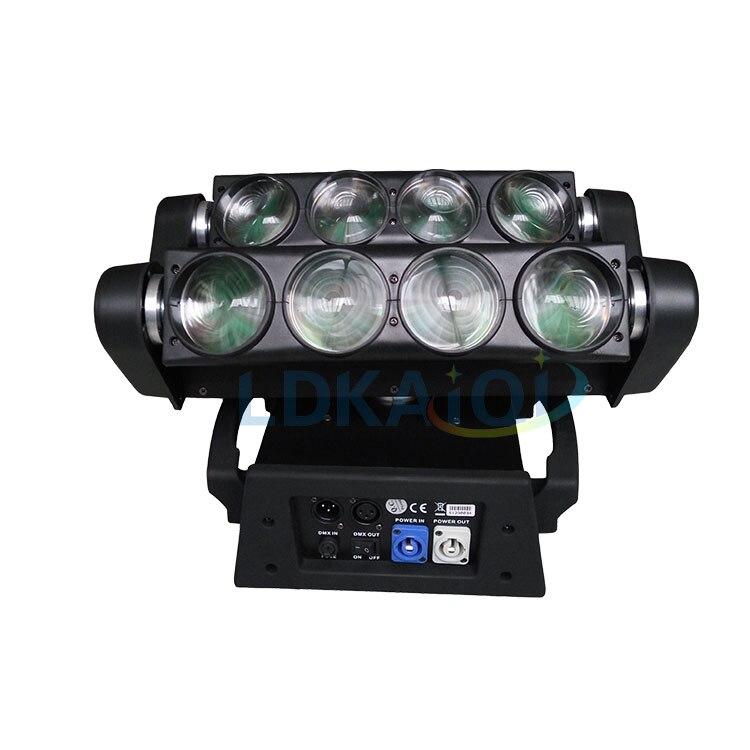 العنكبوت تتحرك رئيس ضوء إحترافي 8*10 واط RGBW 4LED المرحلة الإضاءة DMX إضاءات دي جي للحزب ديسكو