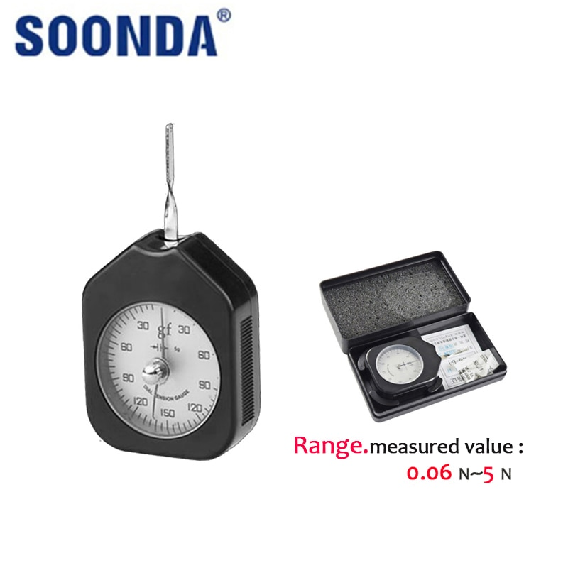 N-Unit Dial Two Pin Pointer Tension Meter Gauge Tester Tensionmeter Manual Tools Force Physical Spring Measuring Instrument 5N