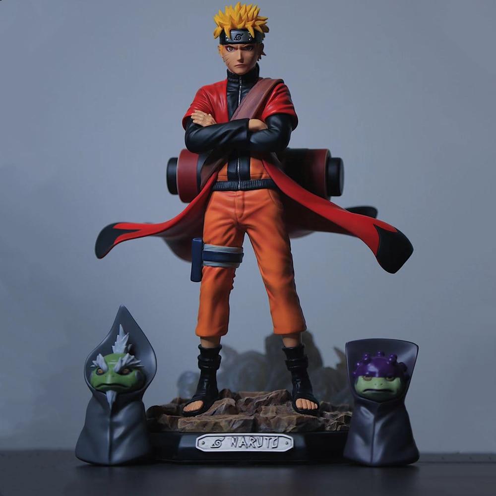 Uzumaki Naruto Sage acción figuras de Anime juguetes de PVC Shippuden Anime-dibujos de estatuilla de Uchiha Sasuke Brinquedos muñeca modelo Figma