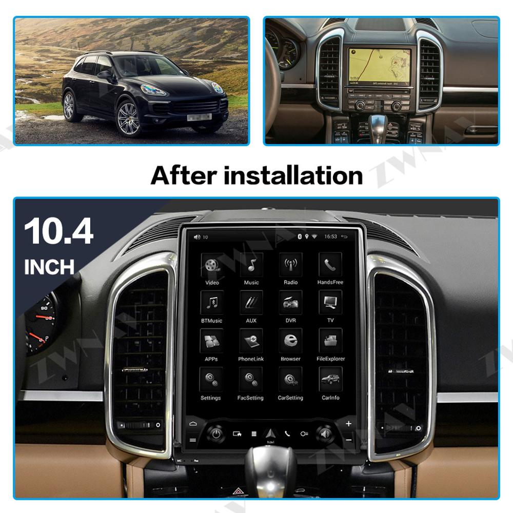Android 9.0 10.4 inch Tesla style Car GPS Navigation For Porsche Cayenne 2011-2018 Auto Stereo Radio head unit multimedia player