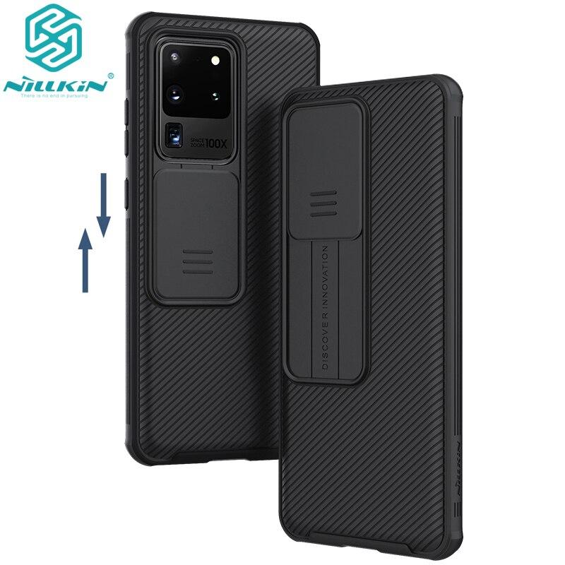 Para Samsung Galaxy S20/S20 Plus /S20 Ultra A51 A71 funda de teléfono, NILLKIN cámara de protección deslizante cubierta de protección de lente