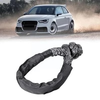 1pcs soft shackles with protective sleeve fiber for offroad sleeve hook synthetic parts with rope soft protective soft hook v7d0