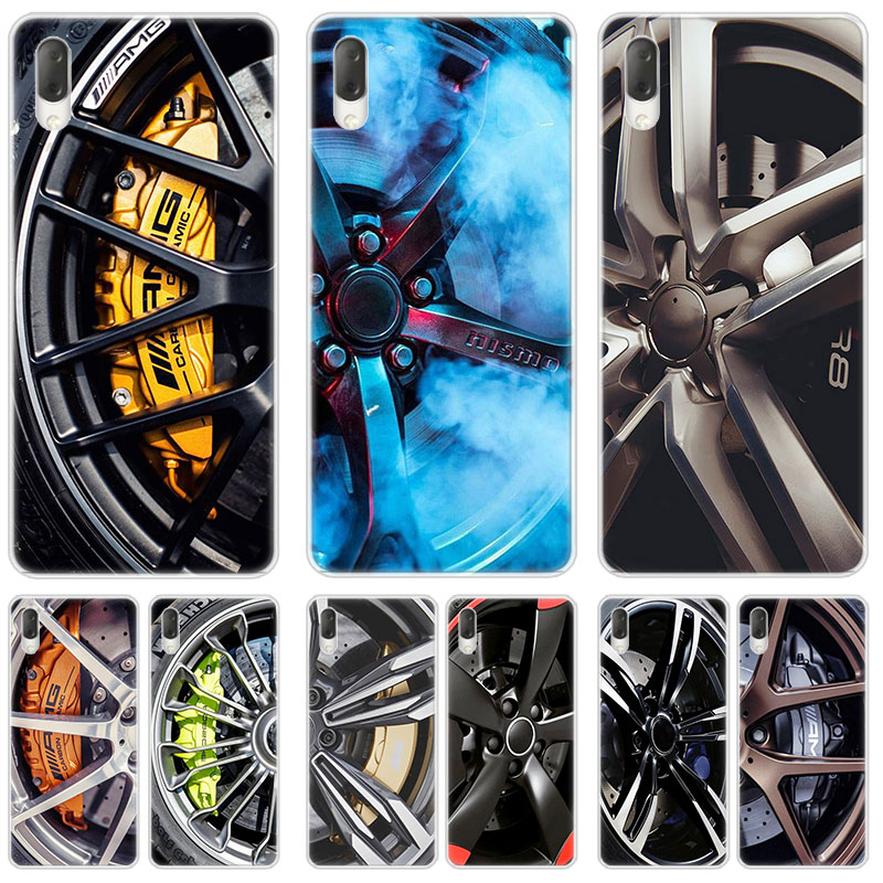 Sports car Wheels rims vehicles Case For Sony Xperia L1 L2 L3 X XA XA1 XA2 Ultra E5 XZ XZ1 XZ2 Compact XZ3 M4 Aqua Z3 Z5 Premium