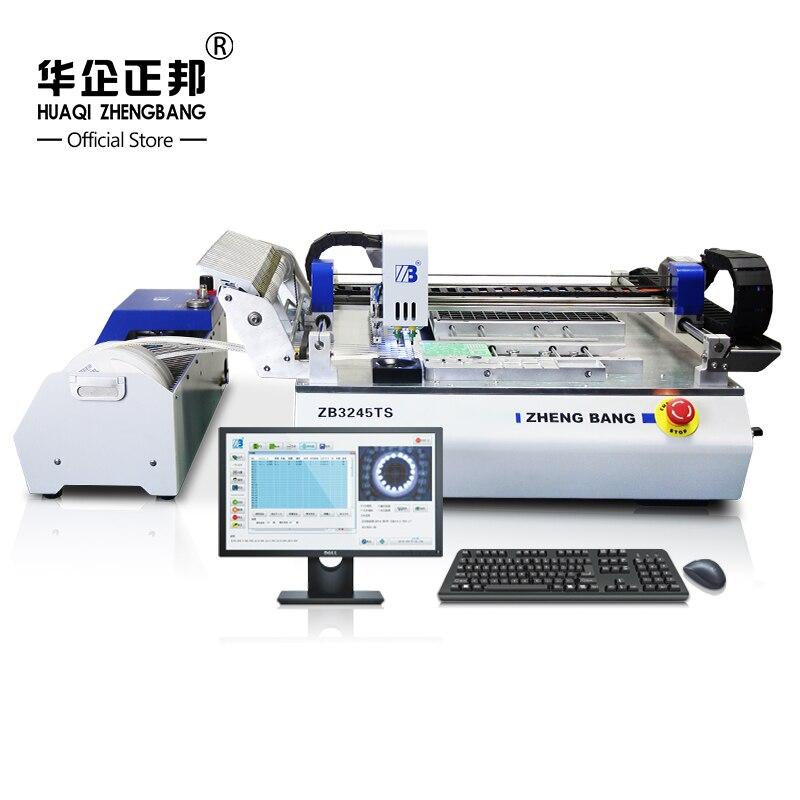 Línea de producción de lámpara led smt máquina de recogida y colocación/máquina de montaje de cantidad de cabezal de doble colocación