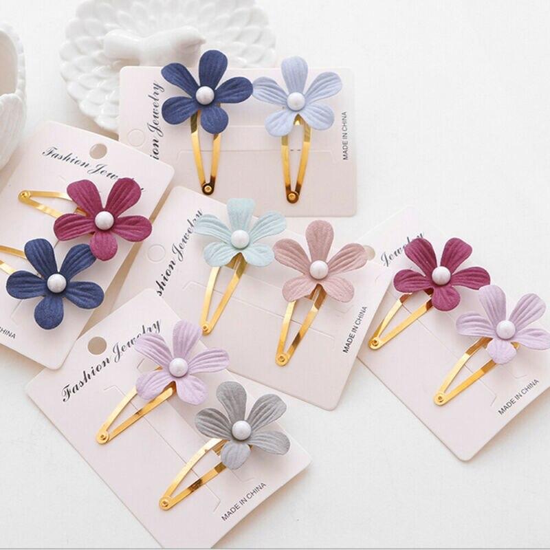 Bonitas pinzas para el pelo de flores perladas para niñas, accesorios de pelo para la playa, estilo bohemio