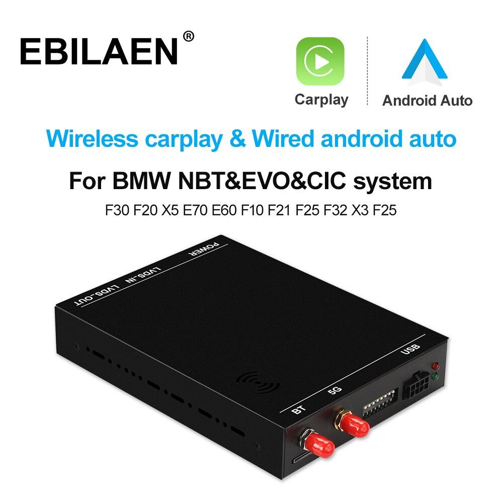 اللاسلكية Carplay ل BMW F30 F31 F20 F21 F10 F01 X5 E70 X3 F25 البسيطة NBT EVO نظام 6.5 8.8 10.25 بوصة مرآة رابط فك وحدة