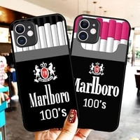 fashion marlboros cigarette luxury unique design phone case for iphone 12 11 pro max 8 7 6 6s plus xr x xs max 5s se2020 coque