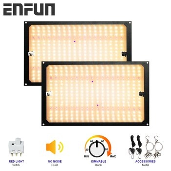 EnFun led grow light for indoor plants Phyto lamp quantum Seedling grow full spectrum board 120W240W  IR UV red light switch