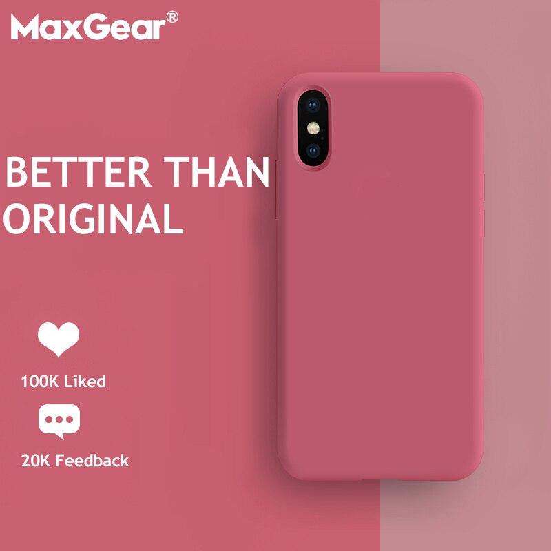 Чехол для iPhone X XR XS 11 Pro Max, Оригинальный жидкий силиконовый чехол карамельного цвета для iPhone 6, 6s, 7, 8 Plus, 7 P, 4S, 5SE, чехол