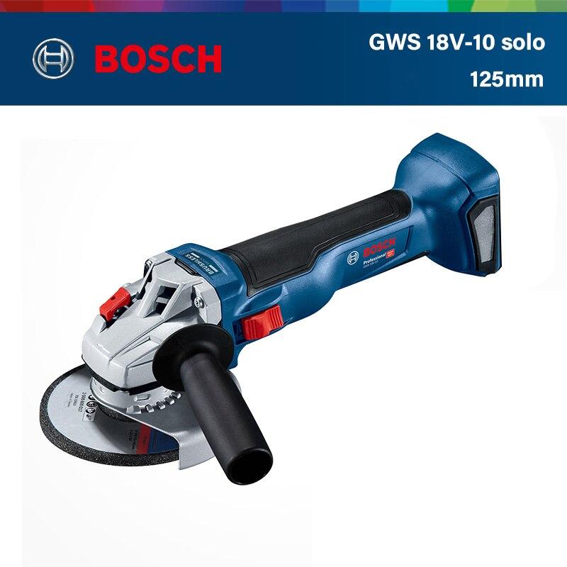 بوش GWS 18V-10 فرش زاوية طاحونة اللاسلكي ليثيوم طاحونة بزاوية كهربائية آلة تلميع آلة قطع (عارية المعادن)
