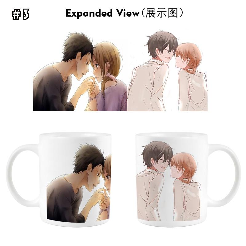 My Little Monster/Tonari no Kaibutsu-kun Yoshida Haru Cup Mug Cosplay Prop High Temperature Color-changing Mug Cups
