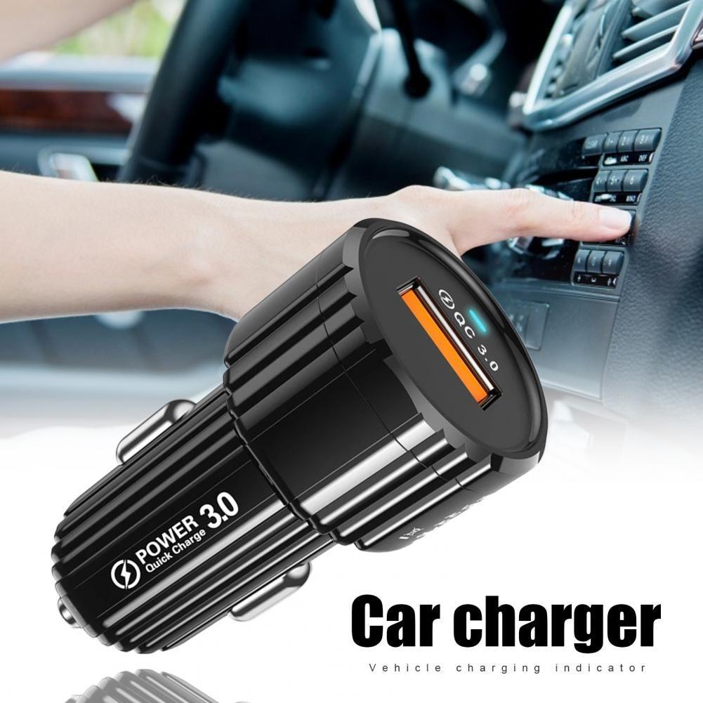 Быстрое Автомобильное зарядное устройство USB, автомобильное зарядное устройство с дисплеем напряжения, розетка дистрибьютора QC 3,0, автомоб...