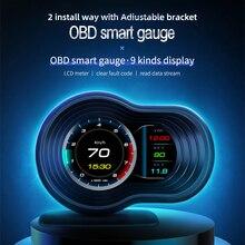 F9 OBDHUD Head Up Display Auto Display OBD2 Smart Car HUD Gauge Digital Odometer Security Alarm Wate