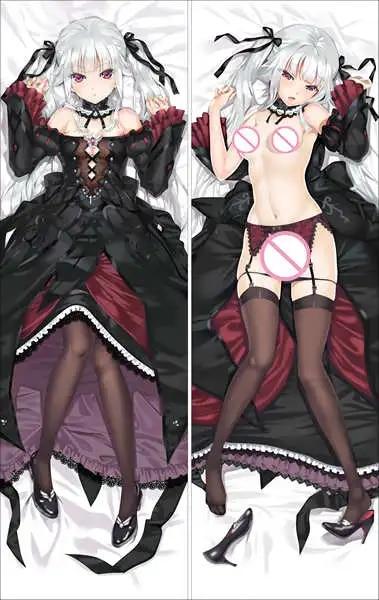 רנגה Bishoujo Mangekyou Kagarino Kirie & Sawatari Shizuku Dakimakura Kannagi Yuuri אליס ודורותי גוף ציפית