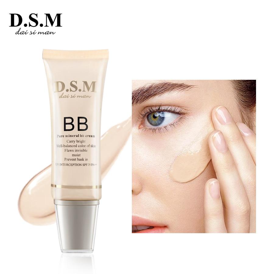 D.S.M Brand New Mineral BB Cream Makeup 35ml Brighten Foundation Concealer Natural Perfect Cover Sun Block BB Cream Makeup