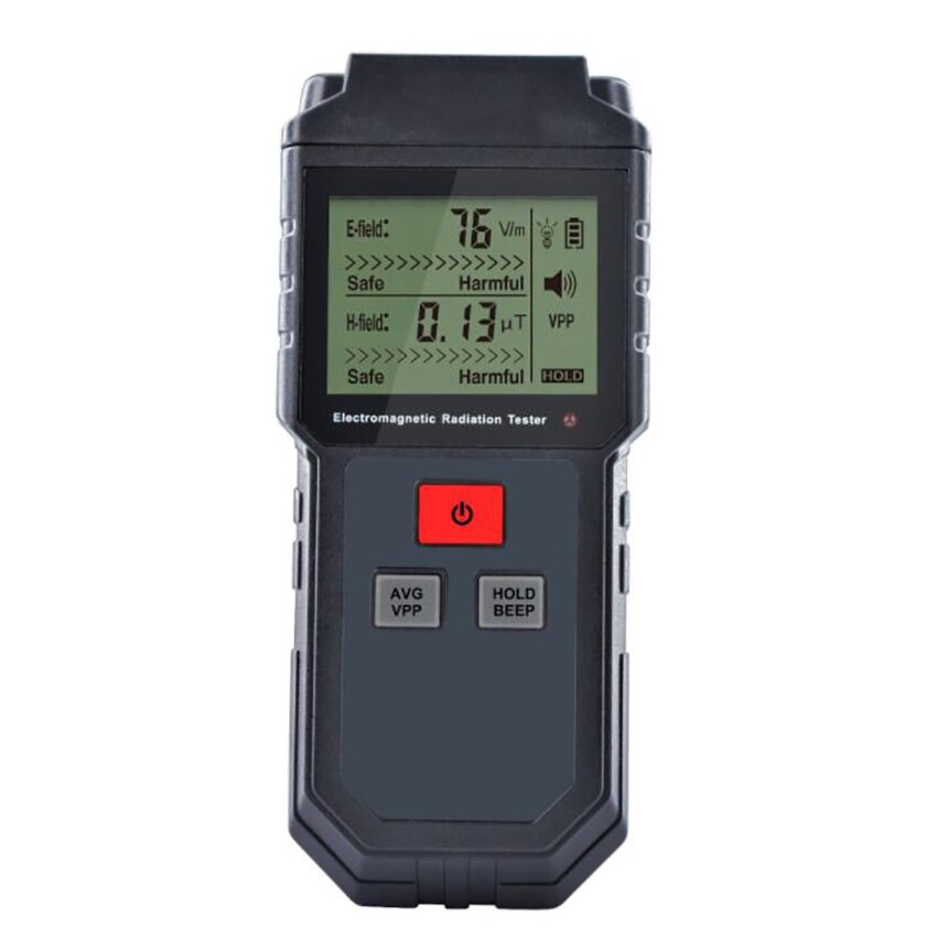 Medidor EMF, Detector de radiación de campo electromagnético, bloqueo de datos, 5Hz- 3500MHz, Detector EMF Digital, medidor de radiación LCD