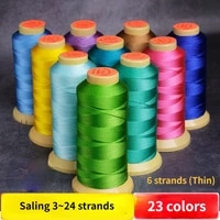 6 strand hand woven thread string beaded ropes bracelet ring necklace tassel winding wires 0 4mm 480m