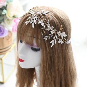 JHOO Hair bands,Bridal Hair Accessories for Wedding Luxurious Headbands for Women Fashion Flower Crown Bridal Hairpiece