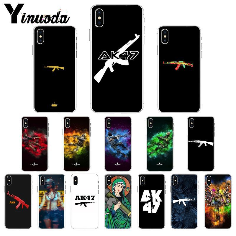 AK47 Gun CS GO Pattern TPU мягкий чехол для телефона iPhone X XS MAX 11 11 pro max 6 6s 7 7plus 8 8Plus 5 5S SE XR Coque Shell