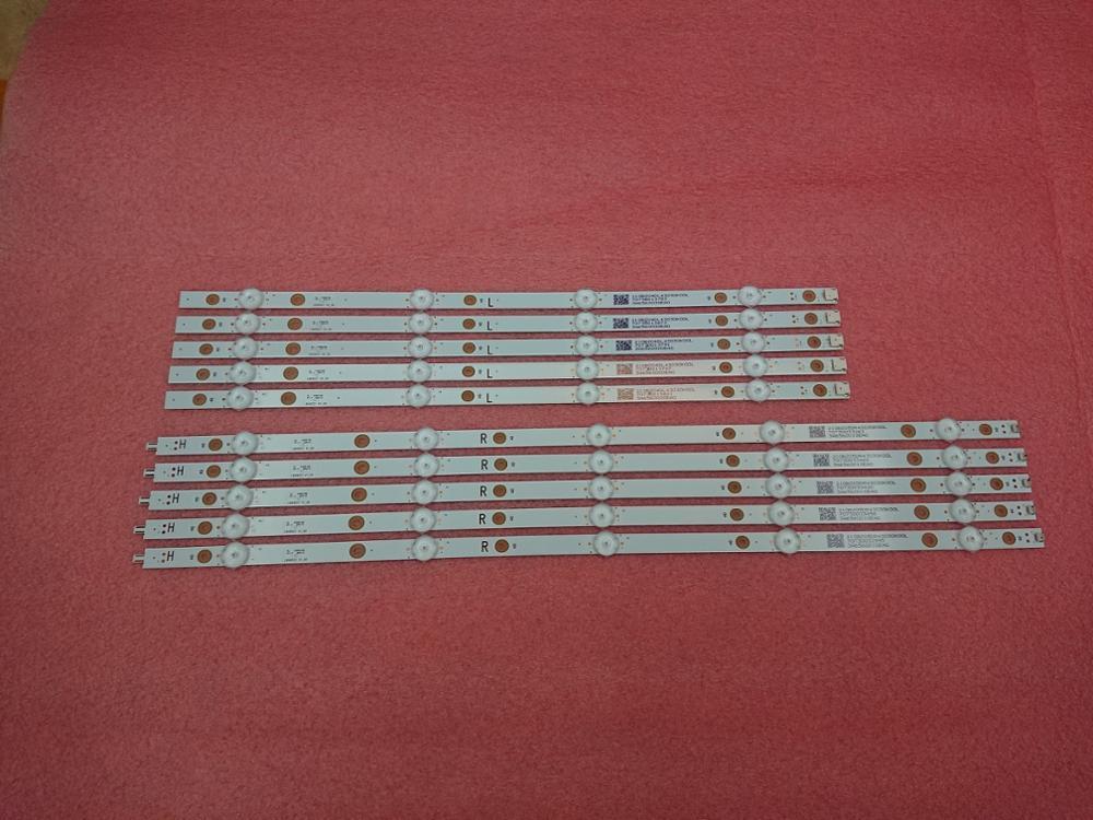 Novo Kit 10 PCS tira retroiluminação LED para 49PUS7503 49pus6162/12 LB49023 V1_00 V0_00 3A6560010EA0 3A6560000EA0