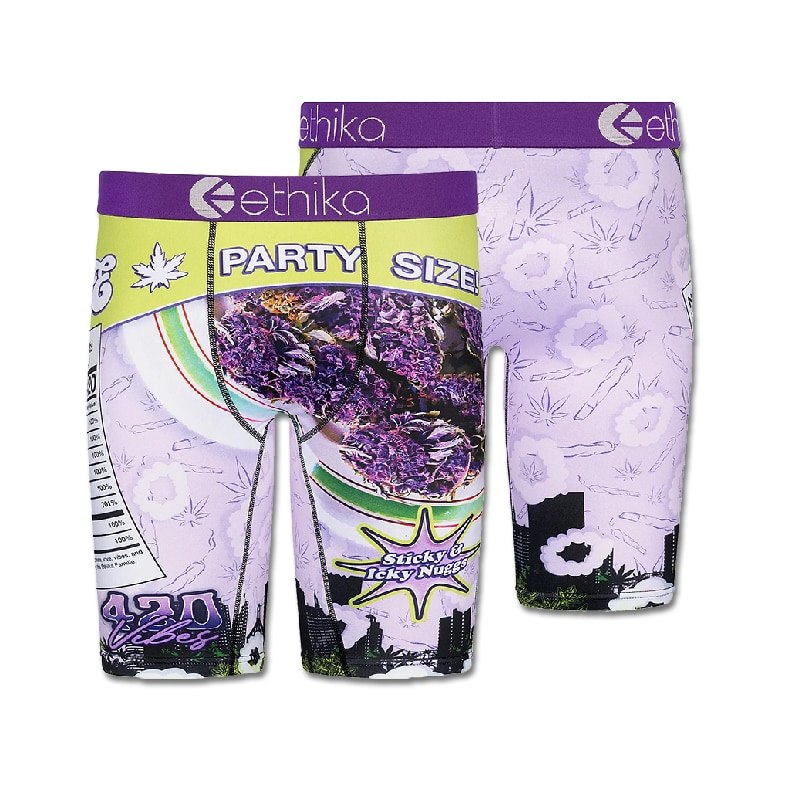 zhcth Ethika Smellllit 420 Party Size Men Boxers Briefs Ethika Elastic Waistband Print Shorts Underwear