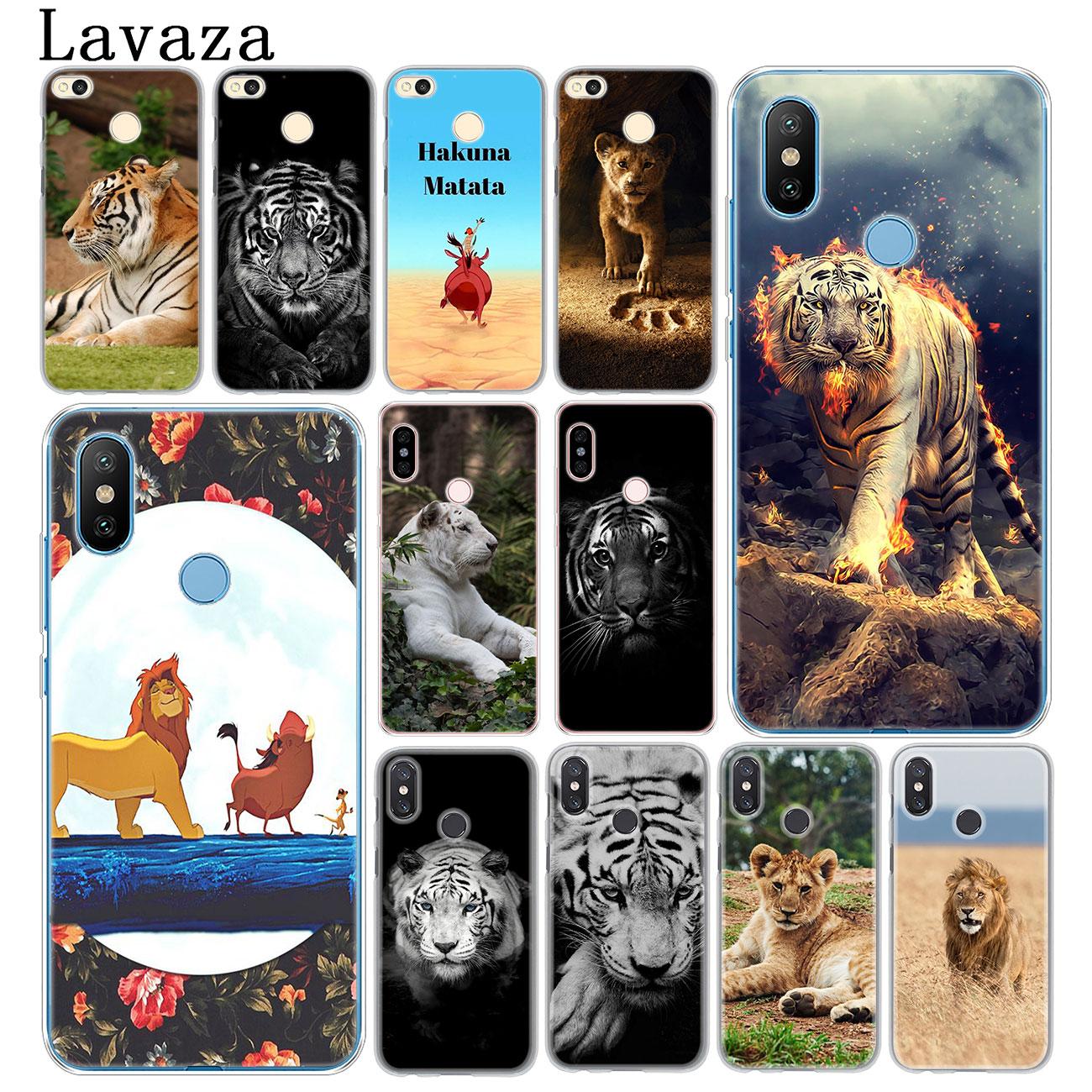 Lavaza El Rey León Tigre cubierta de la caja del teléfono para la Xiaomi mi 10 9 9T CC9 CC9E A3 Pro 8 SE A2 Lite A1 6 teléfono móvil f1 mi 10