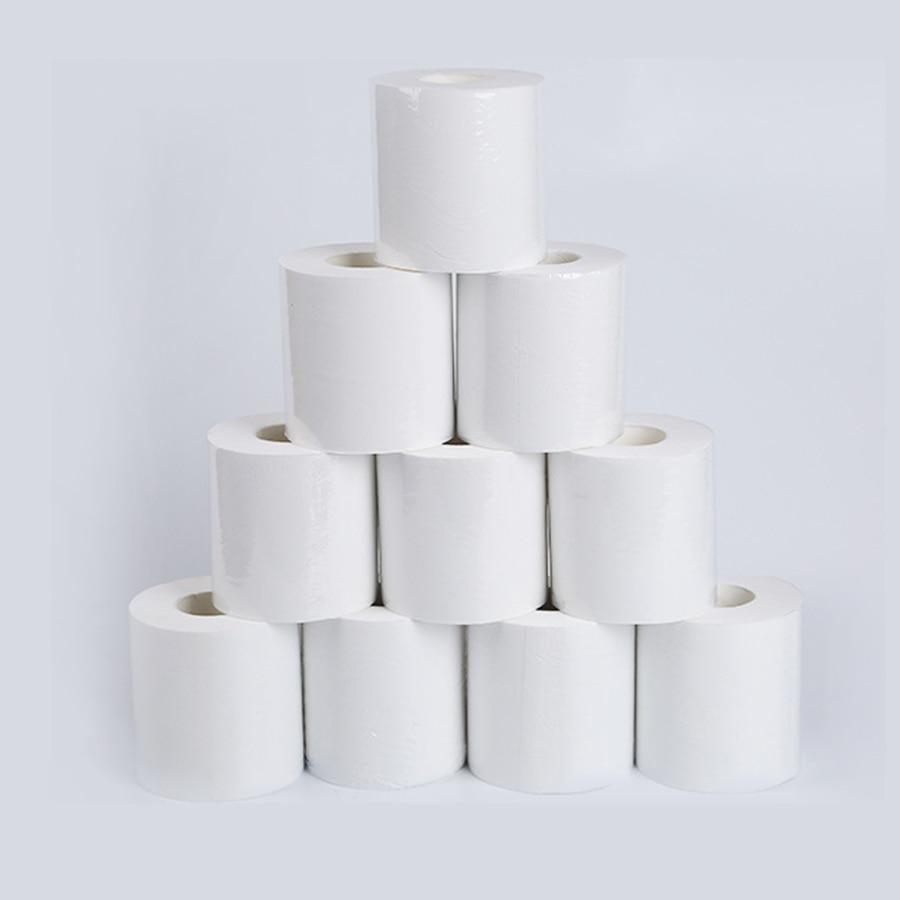 10pcs Three Layer White Toilet Tissue Home Bath Toilet Roll Toilet paper Soft Toilet Paper Skin-friendly Paper Towels