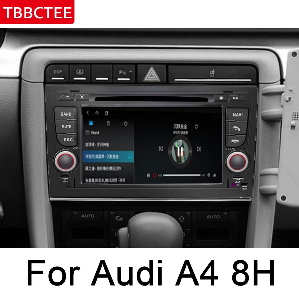 Para Audi A4 S4 RS4 8E 8H 2002 ~ 2008 MMI del coche de Android reproductor Multimedia Radio DVD Navi navegación mapa GPS de audio BT ESTÉREO
