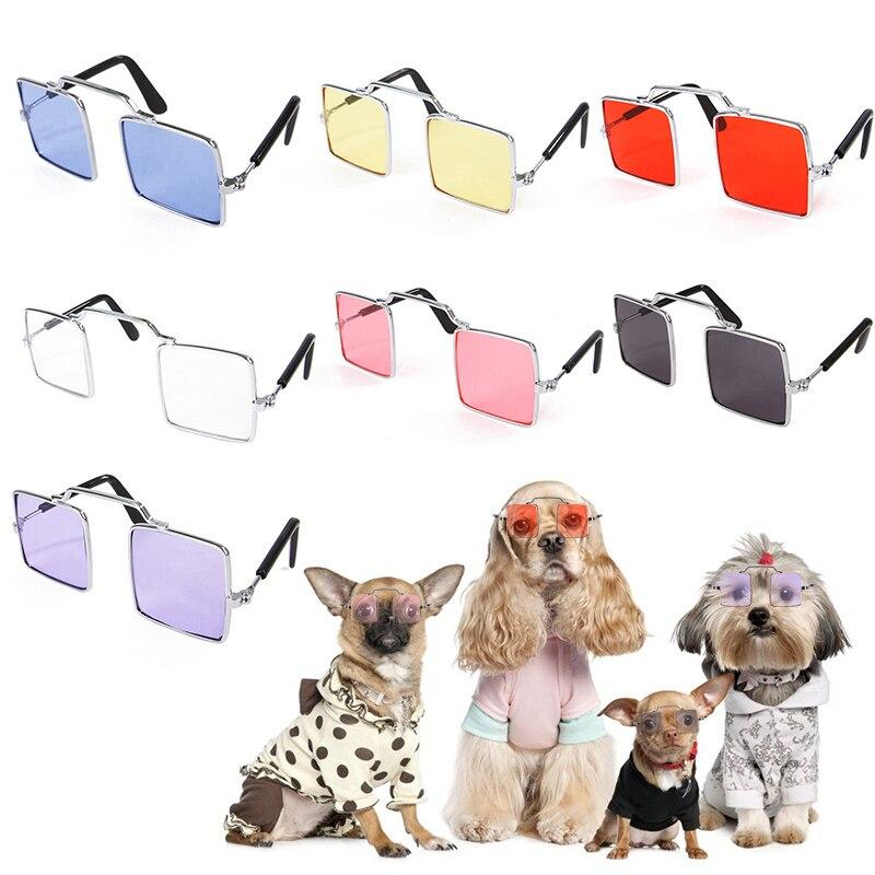 7 Colors Pet Dog Glasses Dog Pet Fashion Trend Glasses Pet Eyewear Dog Sunglasses Decorations For Pets Photographing