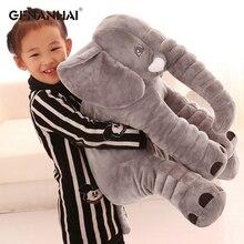 1pc 40/60cm dessin animé grande taille en peluche éléphant jouet bébé enfants dormir dos coussin en peluche oreiller éléphant poupée pour cadeau danniversaire