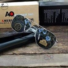 Aviation rectangle Sunglasses Men women 2021 uv400 American Army Military Optical AO Sun Glasses pil