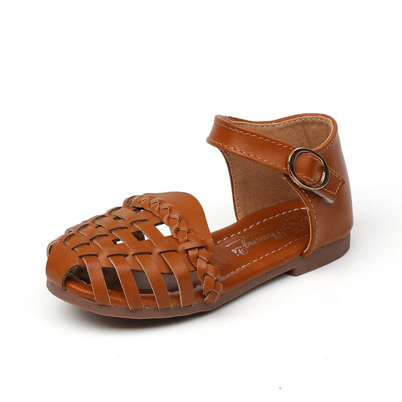 בנות סנדלי ילדי נעלי נסיכת בוהן מתוק-כתרים אנטי kick חוף סנדלים לפעוטות ילדים גדולים של רך קיץ נעלי 21-35