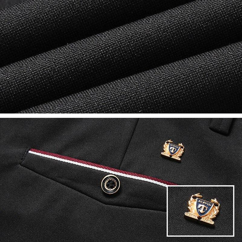 2020 Fashion Suit Pants Mens Elegant Dress Pants Solid Men Leisure Suits Trousers Male Slim Fit Pants Formal Black Blue