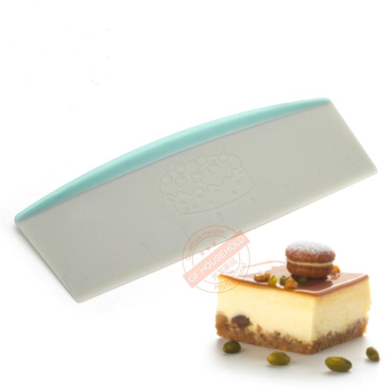 Grande plástico do produto comestível do raspador da massa, cortador da pastelaria com punho, raspador do banco, 9 polegadas