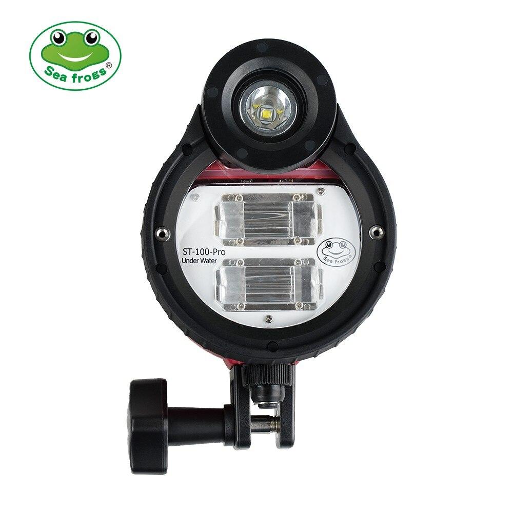 Searogs 100 متر مقاوم للماء LED فلاش ستروب لسوني نيكون كانون أوليمبوس فوجي تحت الماء العلب كاميرا الغوص ST-100 برو