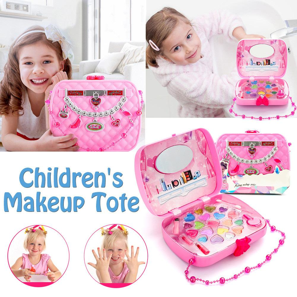 Children's Toys Girl Cosmetic Set Safety Non-toxic Princess Makeup Box Little Girl Birthday Gift Eyeshadow Lipstick Palette Toys