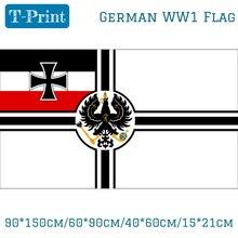 15PCS 깃발 90*150cm/60*90cm/40*60cm/15*21cm 독일 독일 제국 제국 독일 WW1 역사적인 해군 깃발 3X5FT