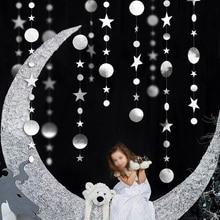 4m or argent couleur ronde étoile guirlande bannière joyeux anniversaire fête de mariage rideau décoration fond suspendu douche nuptiale