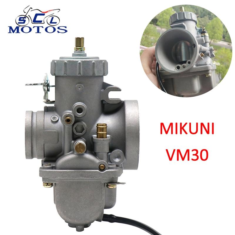 Sclmotos- VM30 Motorcycle Carburetor Carb VM30-83 Fit 30mm VM Series Round Slide Spigot 2/4 Stroke for Kawasaki KZ400 Racing