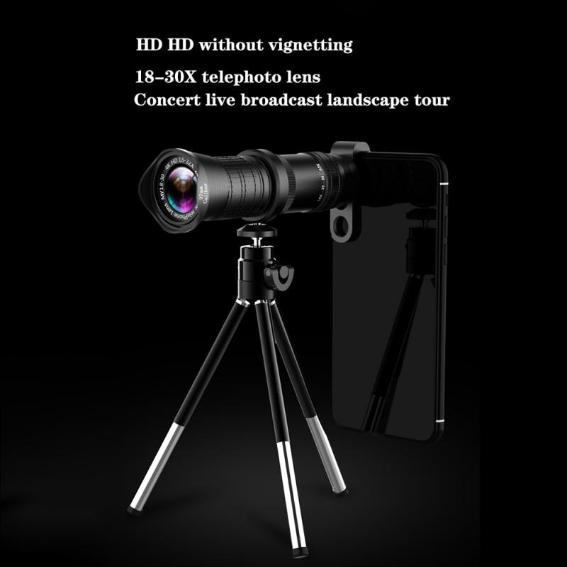 Teléfono Móvil Universal HD teléfono móvil 18-30 Zoom lente doble foco teleobjetivo