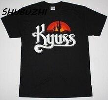 Футболка KYUSS BLACK WIDOW STONER ROCK QUEENS, Новое поступление, Мужская футболка из хлопка 100%, футболка с круглым вырезом, короткий рукав, большой размер