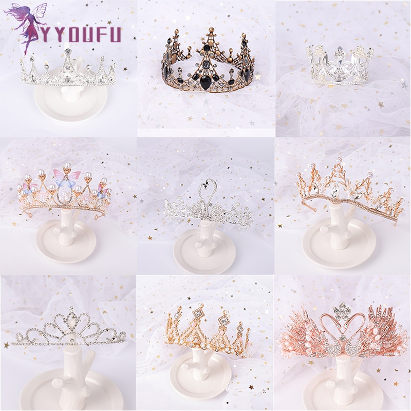 Tiaras y Diadema con coronas de princesa bonita de moda YYOUFU, joyería para el cabello para niñas, corona nupcial fiesta, accesorios para fiestas de bodas
