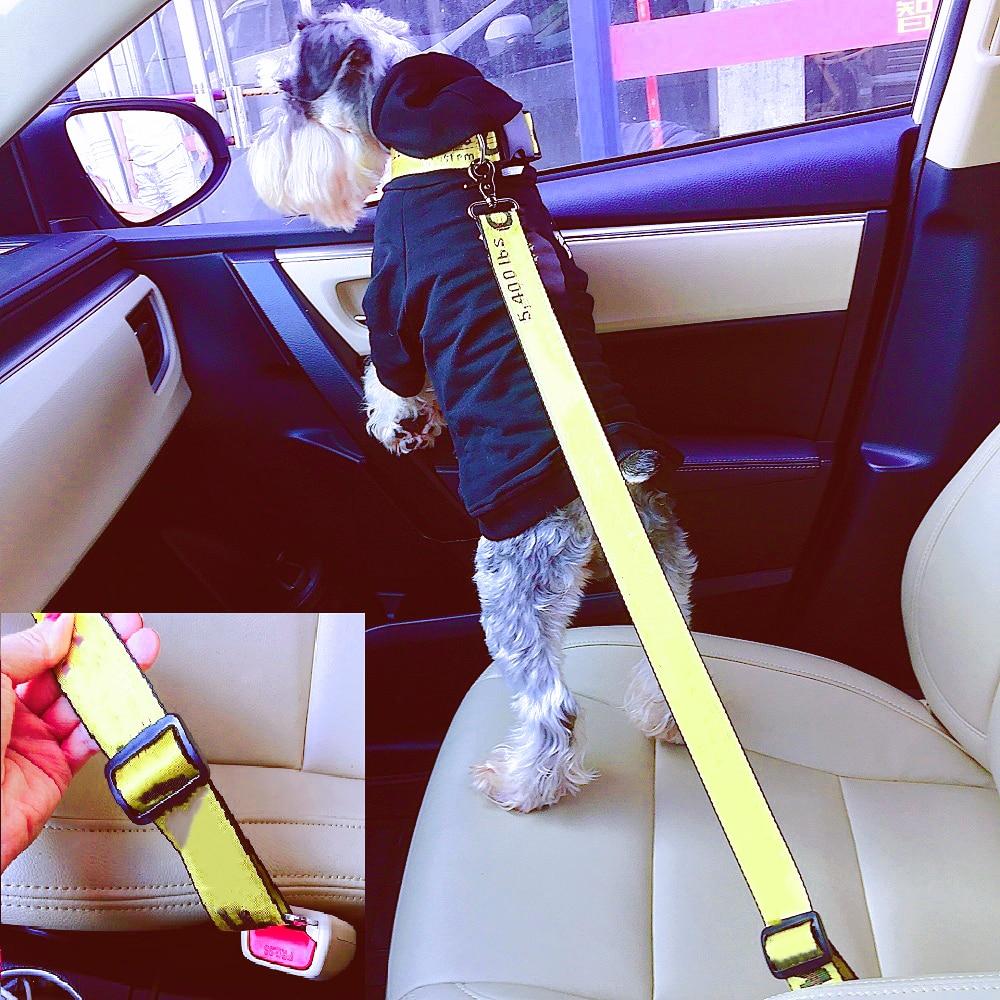 Модный поводок для собаки, автомобильный ремень безопасности, нейлоновый ремень безопасности для собак, ремень безопасности для автомобил...